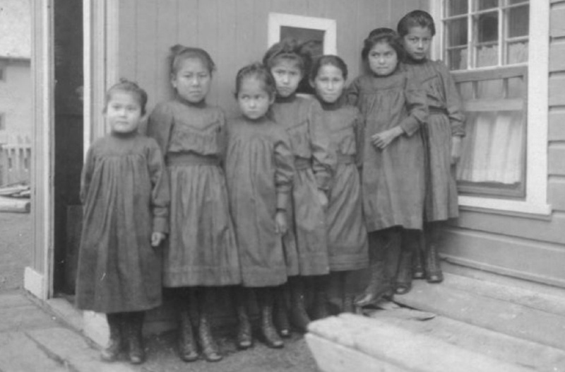 Young girls in boarding school